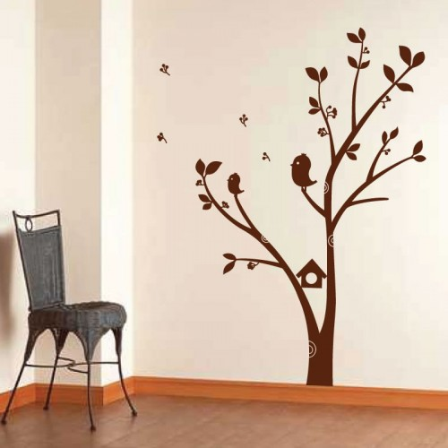 Stickers nature stickers autocollants stickers for Autocollant mural arbre